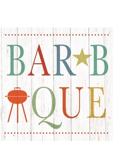 Summer Barbeque Peçete-Dünya Style